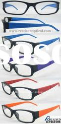 2012 New Design Soft Coating Two Tone Color Plastic Reading Eyewear (RP461008)