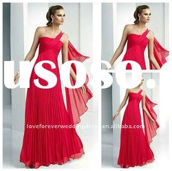 2012 New Plum One Shoulder Evening Party Dress Long