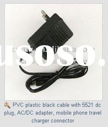AC/DC adapter, mobile phone travel charger, cable with plug