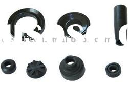 Black food grade molded silicon rubber grommet