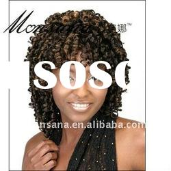 Charming and long super wave brown human hair full lace wig for black ladies