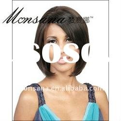Hot selling short and brown human hair full lace wig for children