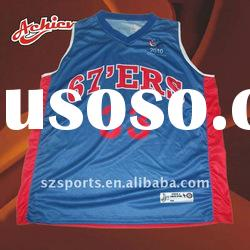 Sleeveless basketball uniform design with low MOQ