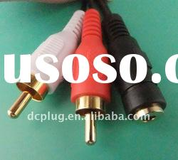 TOSLINK cable, dc cable with RCA connector, dc plug for multimedia