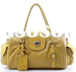 Top PU + real leather fashion shoulder handbags