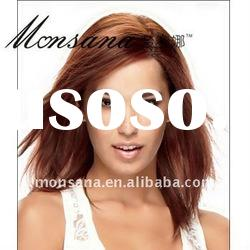 Wholesale and long silky straight wave brown human hair full lace wig for black ladies