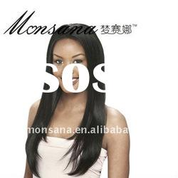 long silk straight wave human hair full lace wig for black women