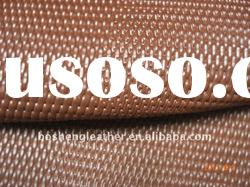 net pattern brown cow coated leather for bags