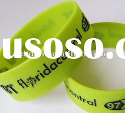 silicone bracelet filled with colour embossed