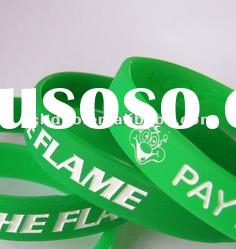 silicone bracelet filled with colour for promotional gift