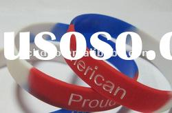 silicone debossed color filled bracelet/wristband/band/bangle