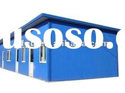 simple prefabricated steel house for construction site