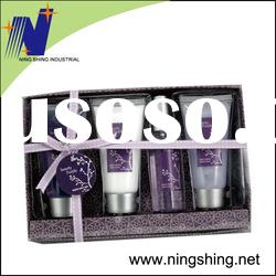 2011 fashion bath set in paper box for bodycare or gift