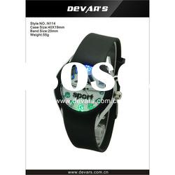 2012 fashion stainless steel back water resistant led watch for gift watches N114-LED