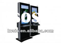 55 Inch LCD Self Service Payment Big Digital Signage Kiosk With Multi Lingual Keyboard