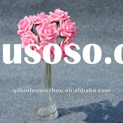 Artificial Plastic Wedding Foam Rose Flower Bouquet,Artificial Foam Flower for Wedding Decoration
