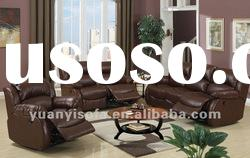 Contemporary living room furniture leather recliner sofa
