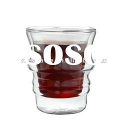 Double Wall Clear Glass Personalized Glass Cup