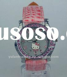 For Children Back to School Hello Kitty Wrist Watches Clock nlt-023