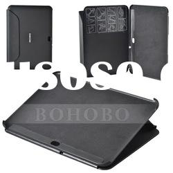 For Samsung Galaxy Tab 8.9 7300, Black Leather Case with Stand, New Arrival, High Quality