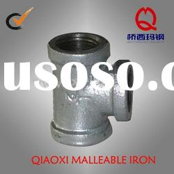 Galvanized malleable iron pipe fitting, beaded elbow with ribs