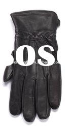 Men's patch leather gloves