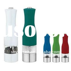 New Hot Colorful Plastic Pump Grind Salt Pepper Mill