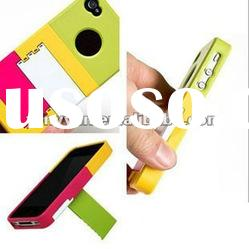 Shutter Back Case Cover Hard Skin Defender Stand Holder For Iphone 4 4s Colorful