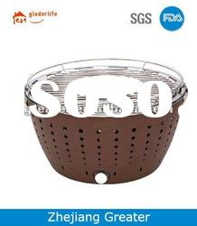 Stainless steel Charcoal BBQ Grill,Charcoal BBQ with Round Shape