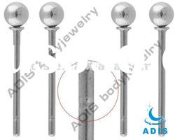 Titanium nose stud with single ball,nostril piercing,body jewelry