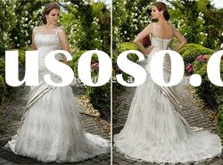 Very beautiful Satin and Lace wedding dress with beading