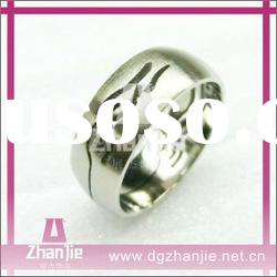Wholesale in stock fashion stainless steel cheap rings