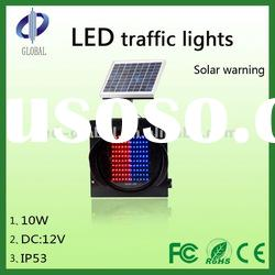 energy saving led solar traffic warning lamp