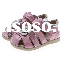 girls' toddler infant leather shoes for children pink UI-B65006-PK
