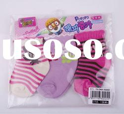0-6 months Baby Girl Sock 3pairs in one polybag