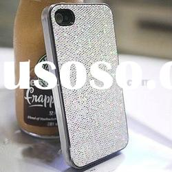 10 colour Glitter bling shining Diamond stick skin hard plastic back case cover for iphone 4 4G 4S