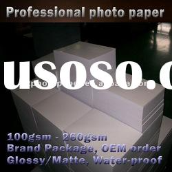 150g premium high glossy inkjet coated photo paper,factory supply