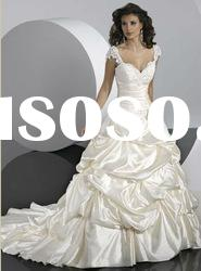 2012 New Off-Shoulder Ruffled Ball Gown Wedding Dresses