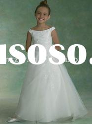 2012 cute Sleeveless A line Floor length Flower girl formal dresses B55