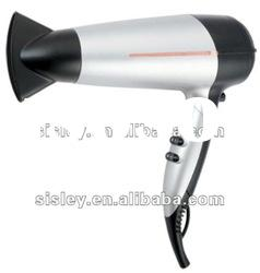 2200W household motor hair dryer with ionic function and foldable handle