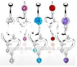316l stainless steel soulmate belly ring,navel ring,body jewelry