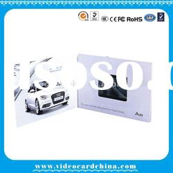 "3.5""TFT screen LCD video greeting display card /advertising card with USB"