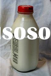 500ml transparent empty square glass milk bottle with lid