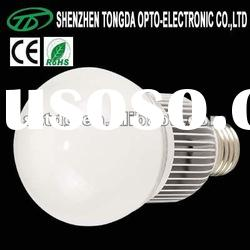 5w high power led lamp with glass cover(CE)