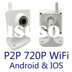 720P H.264 support smartphone tablet remote view indoor day night 1.3mp wireless IP camera