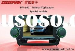 "8"" in dash digital screen Car DVD DV-8001 with radio,TV,BT for Toyota-Highlander special model"