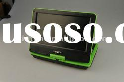 9 inch portable DVD player of rotatable screen with aspect ratio 16:9