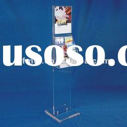 Acrylic Perspex Brochure Holder Floor Stand