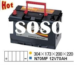 Auto Maintenance Free N70MF 12V70AH car battery