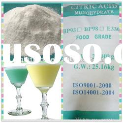Best selling citric acid monohydrate beverage industry